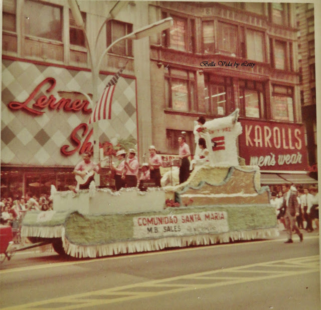 chicago Puerto Rican day parade vintage photograph