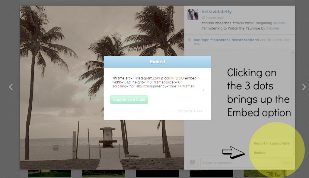 How to embed an Instagram Photo