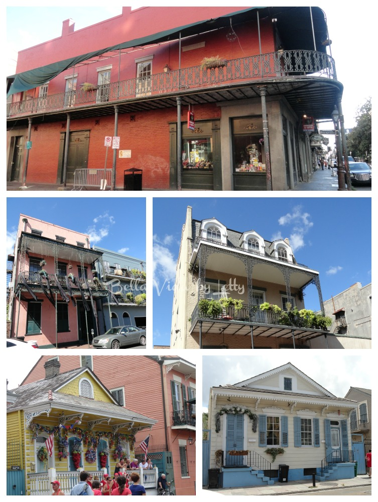 French Quarter architecture Collage NOLA