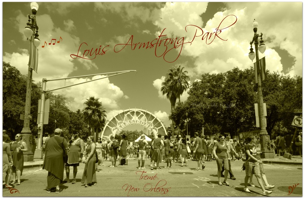 louis armstrong park postcard new orleans