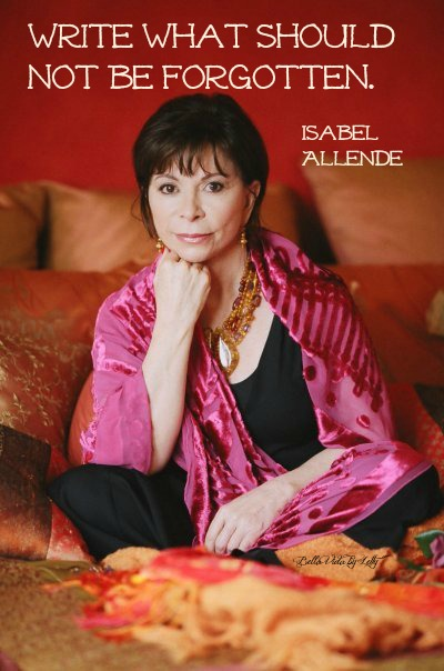 writing quote isabel Allende