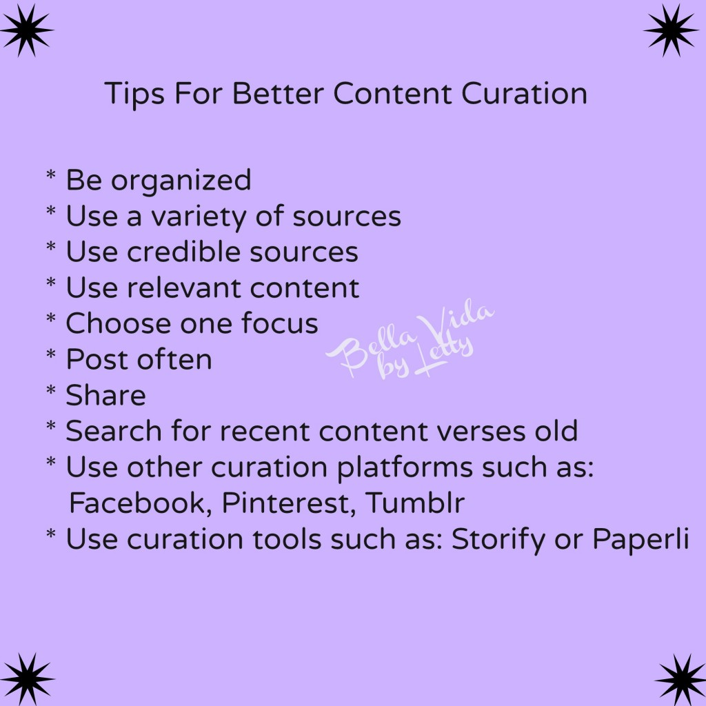 Tips for better content curation