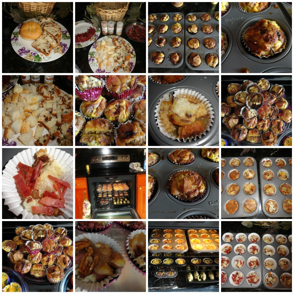 French Toast Muffin Collage