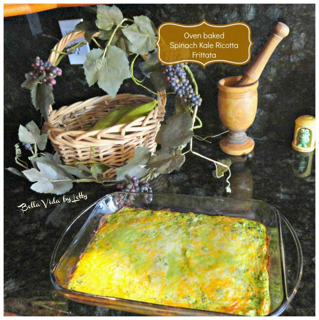 Spinach Kale Ricotta Frittata Recipe