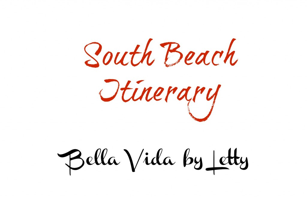 South Beach Itinerary