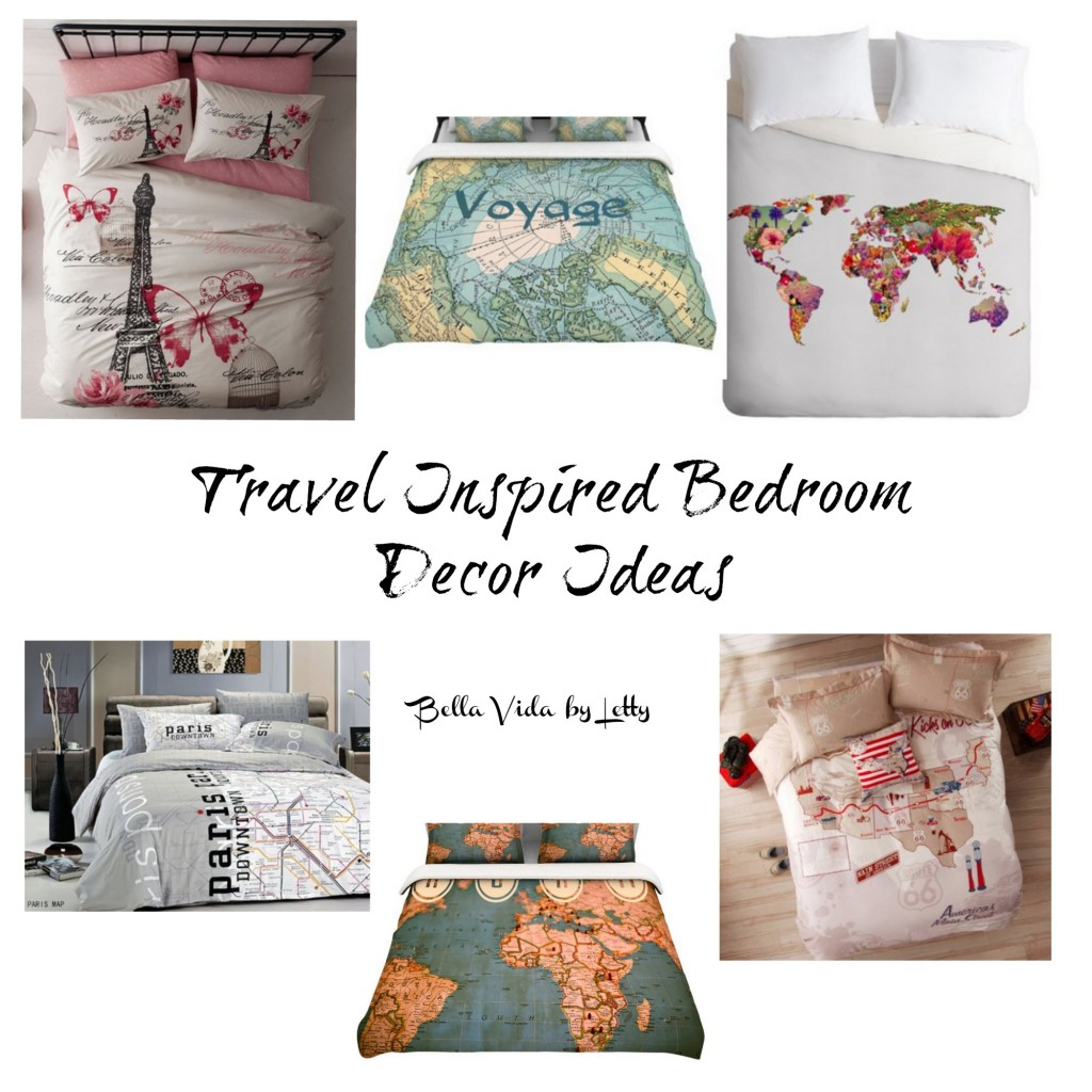 Travel Inspired Bedroom Decor Ideas