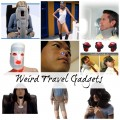 Weird Travel Gadgets Collage