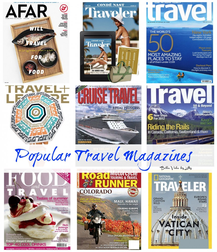 popular travel magazines Collage