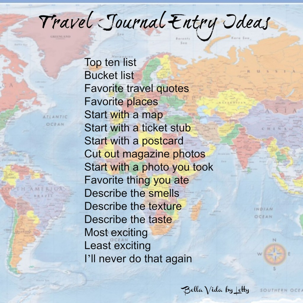 travel journal entry ideas